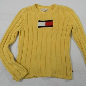 Tommy Hilfiger Sweater Big Flag Vintage Gold